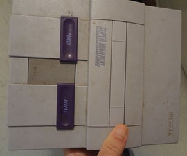 Super Nintendo Power Plug Input Replaced With Common Style.