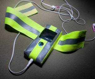 Custom-fit Reflective Cellphone/MP3 Armband With Money Pouch