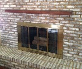 Mount a Fireplace Mantel