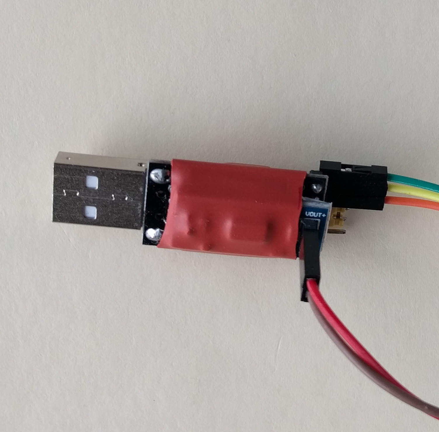 Picture of $1 USB to UART-serial Flashing Device (dongle) With 3.3 V Power Supply for ESP8266MOD ESP-12 Module