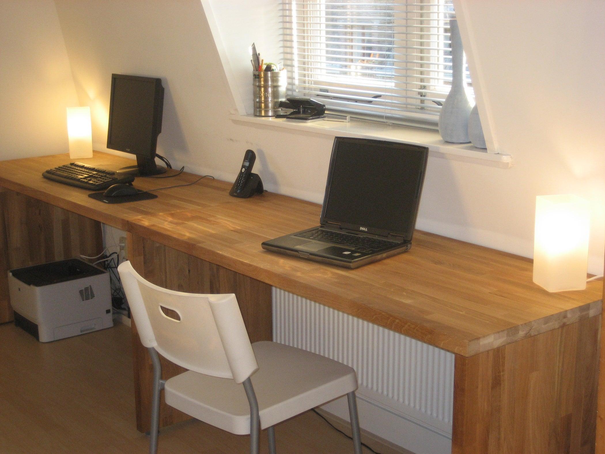 Big Oak Desk From Kitchen Worktops : 6 Steps - Instructables