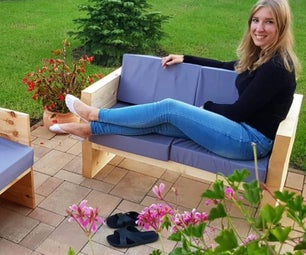 Wood Garden Sofa With VIDEO