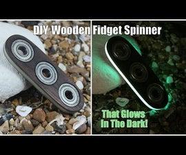 DIY Wooden Fidget Spinner That Glows in the Dark
