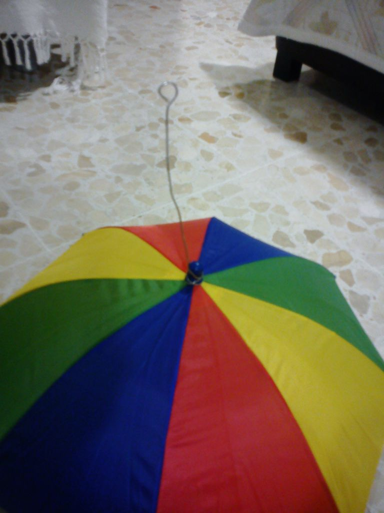 Picture of Attaching the Cloud to the Umbrella Hat