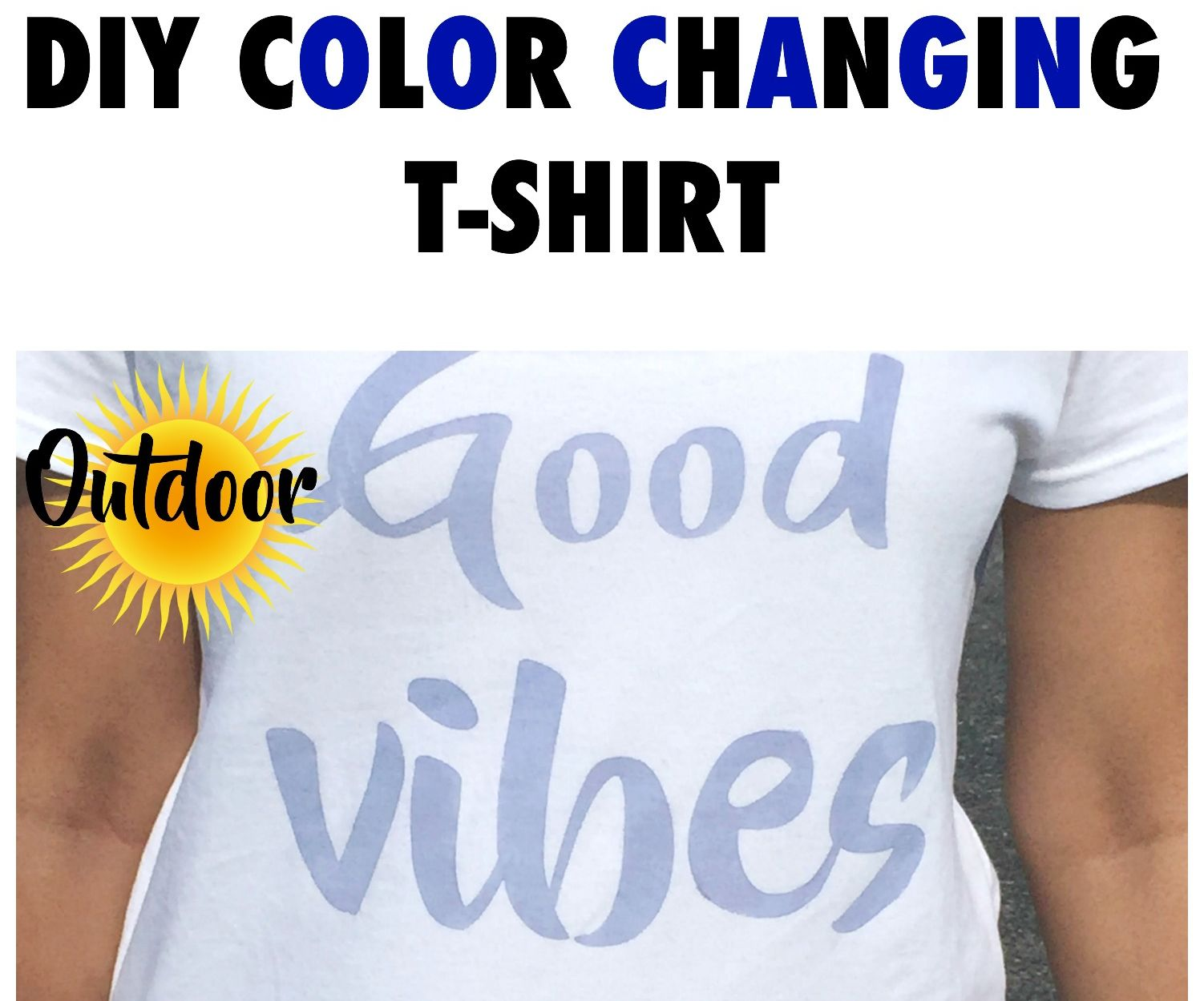 Diy Color Changing T Shirt 7 Steps With Pictures
