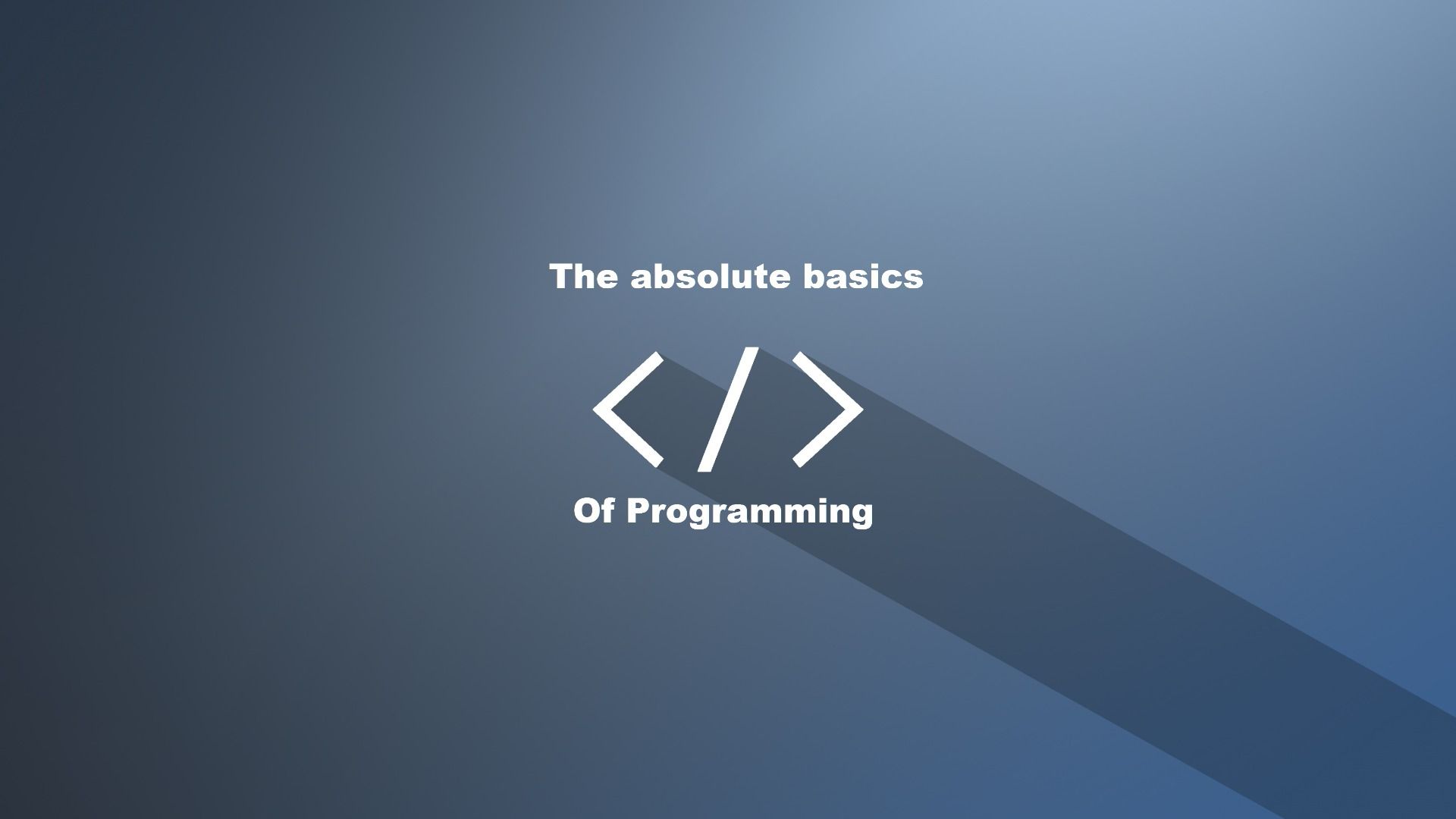 Picture of The Basics of Programming