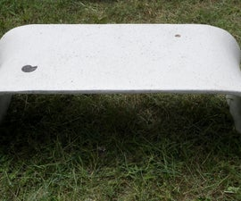 Fabric Formed Tea Table in GFRC
