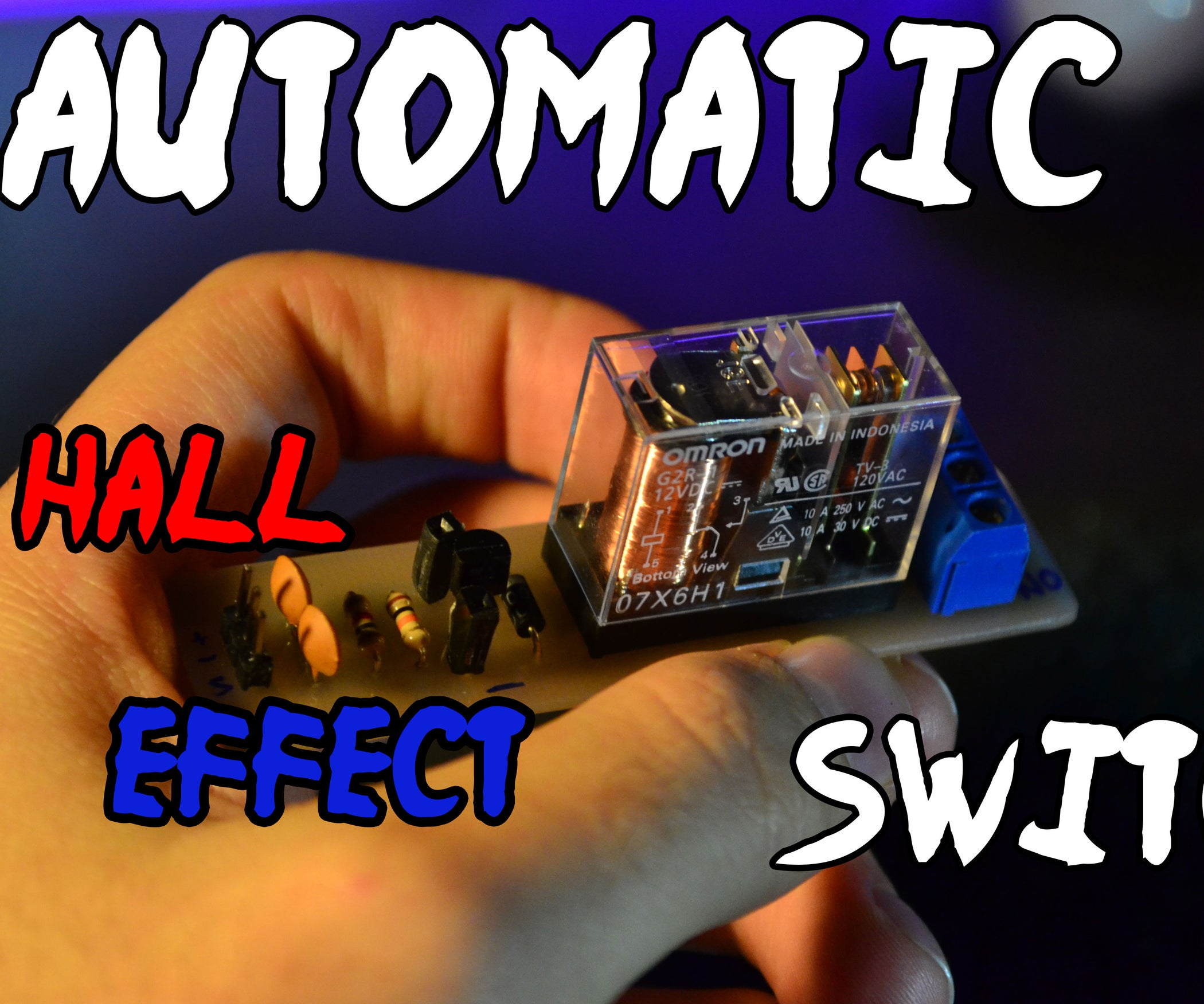 Automatic Hall Effect Switch 5 Steps With Pictures Sensor Circuit Diagram Further 2 Way Wiring On