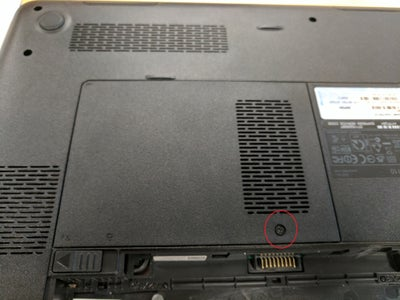 Locate and Take Out Panel Screws Covering the RAM
