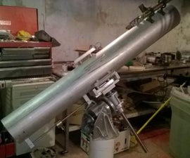 6' f8 Newtonian with Sled Focuser on EQ mount