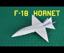 Origami Paper Plane: F18 Hornet
