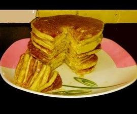 Eggless Pan Cake | Banana Pan Cake | Easy and Quick Cake Recipe | Christmas Morning Pancake