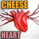 Make a realistic cheese heart