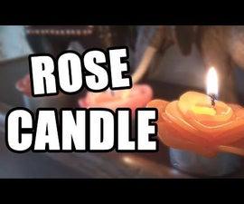 DIY Rose Candle