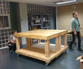 Makerspace Workbench on Wheels