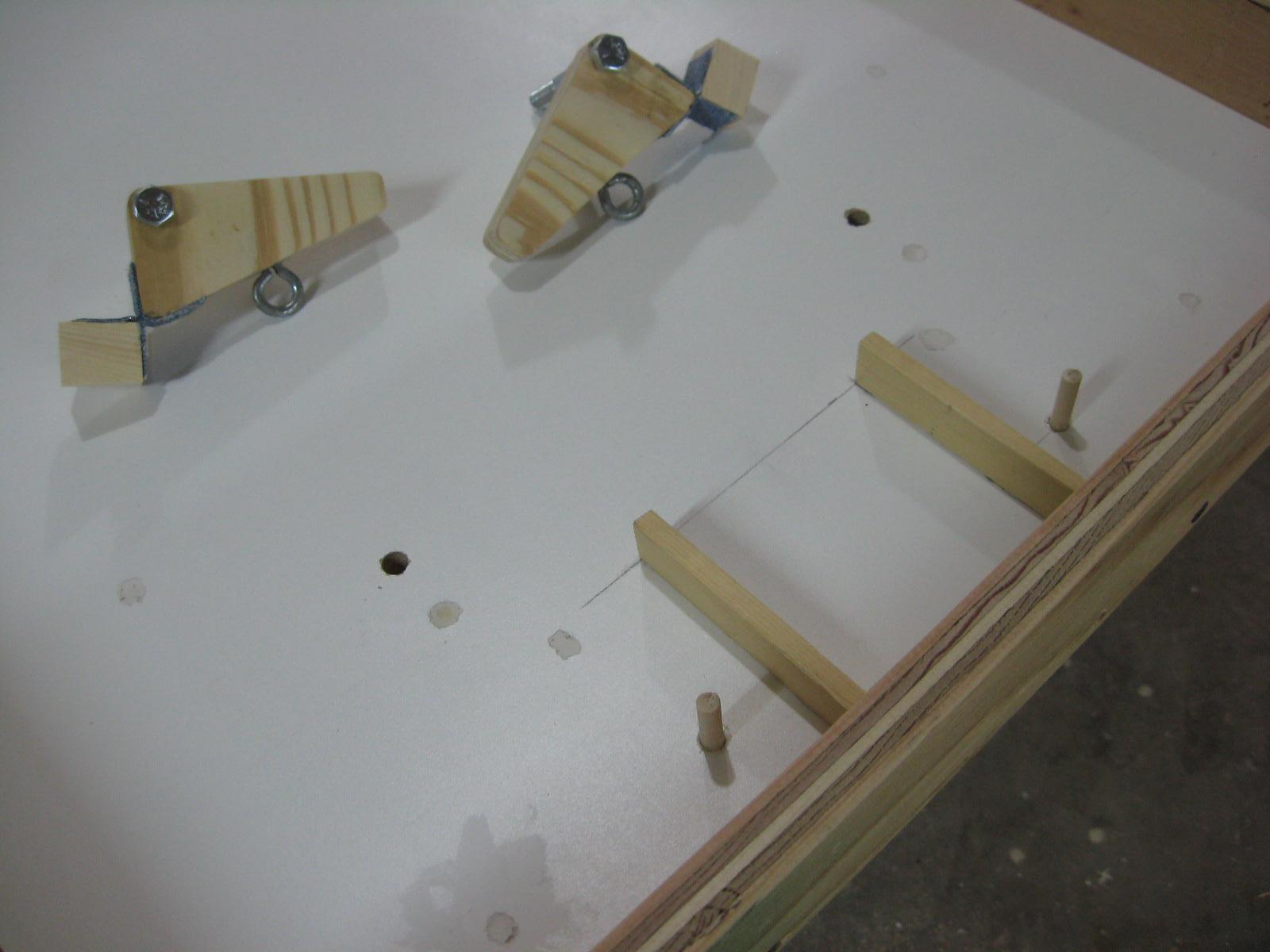 Picture of Paddle Mechanism and Mounting to Table