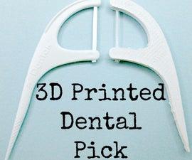Multi-Material 3D Printing: Dental Floss Pick