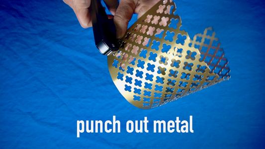 Punch Out Metal and Secure With Brads