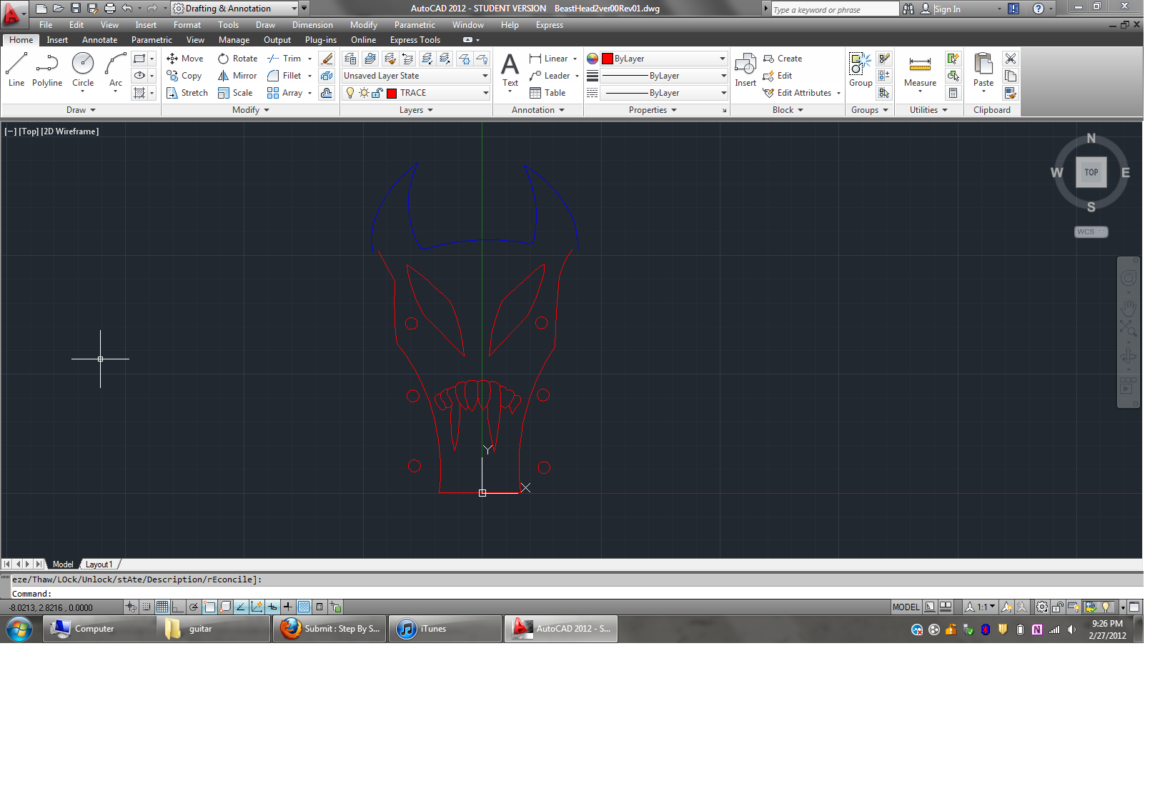 Picture of AutoCAD Drawing