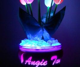 Glowing Plastic Spoon Tulips!!!