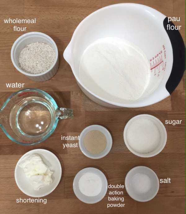 Picture of To Make the Wholemeal Buns, Prepare All the Ingredients Needed to Make the Dough.