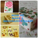 How to make decorative (decoupage) Soaps