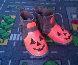 Pumpkin shoes for a little pumpkin