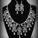 Silver Swagger Necklace and Earrings
