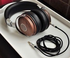 Black Walnut Wooden Shell Headphone With Hi–Fi 40 or 50mm Sennheiser Drivers