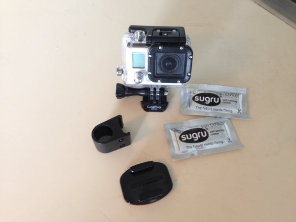 Sugru GoPro Rail Mount Hack