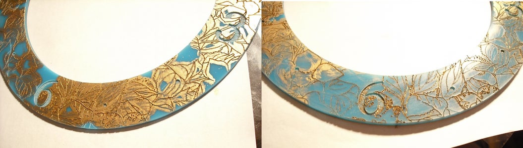Gold Outlines for the Acrylic
