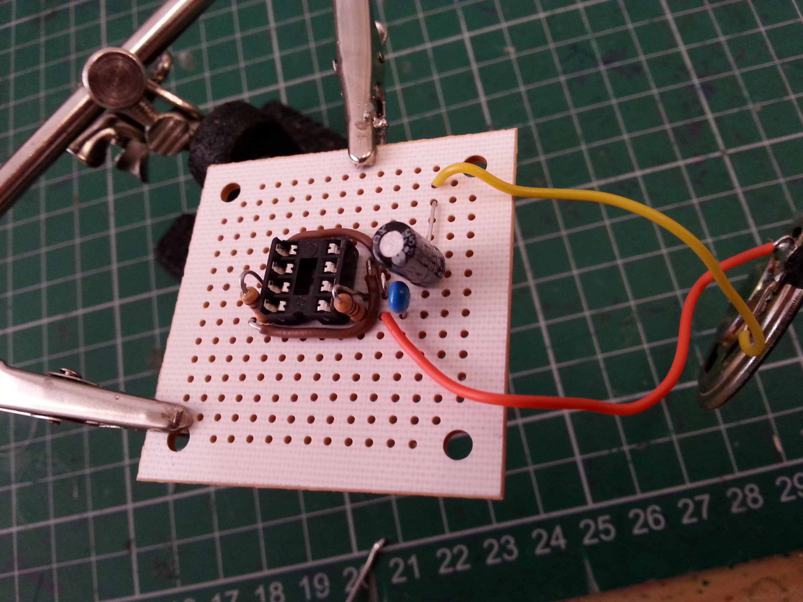 Picture of Solder the Capacitors and the Speaker