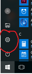 Picture of Click the Settings Icon
