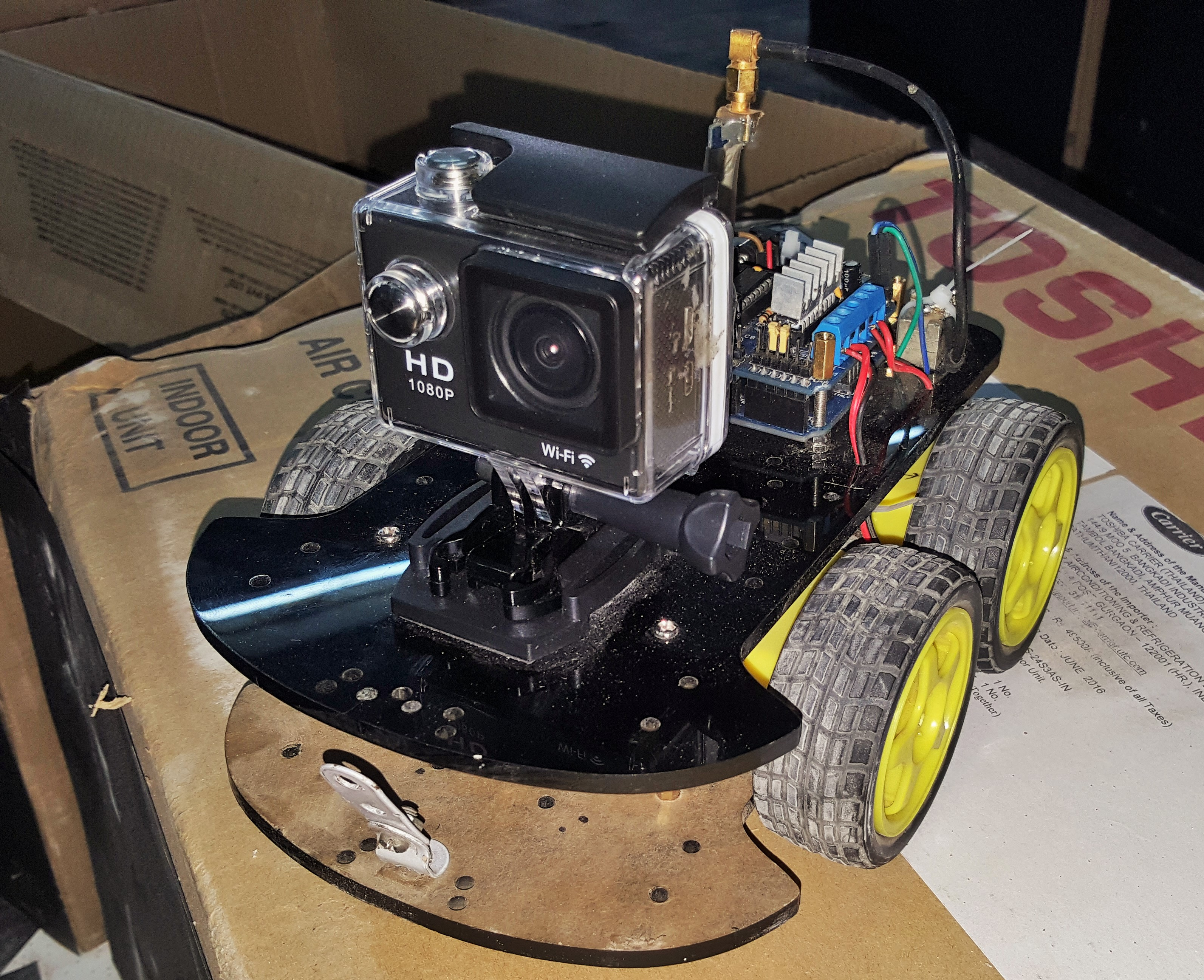 Picture of Mounting the Camera to the Rover/Car
