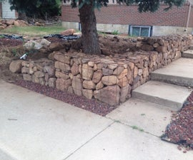 Cheap DIY Gabion Baskets