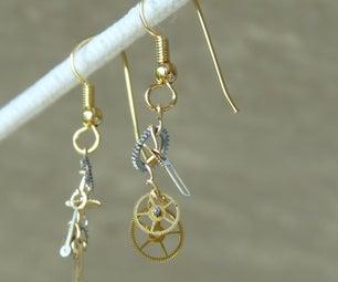 Gearrings: Steampunk Earrings