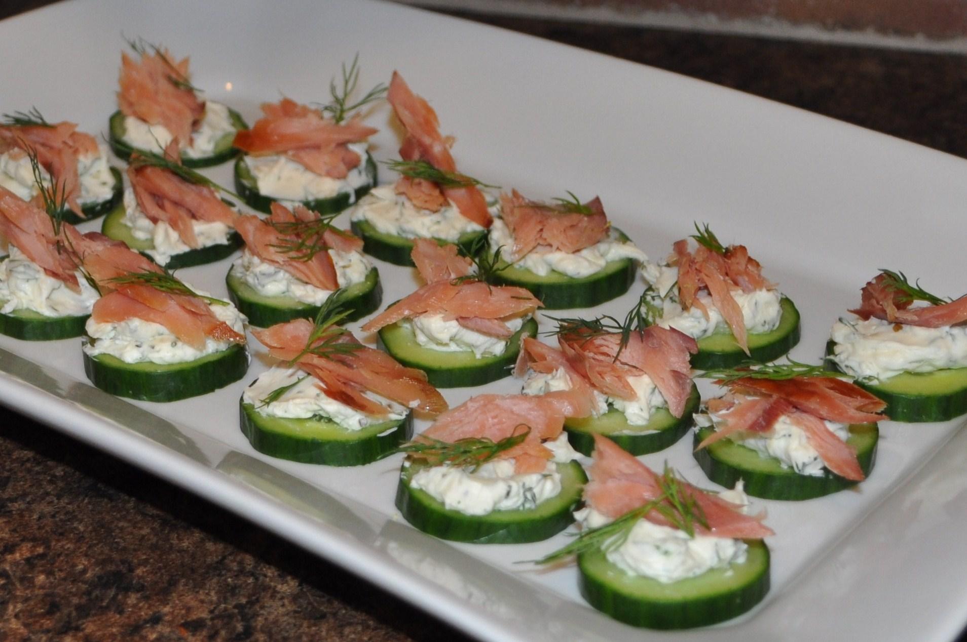 Picture of Cucumber, Cream Cheese & Smoked Salmon/Steelhead