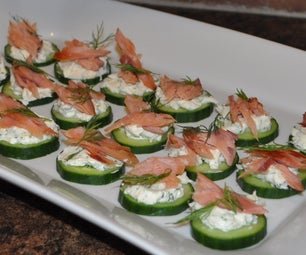 Cucumber, Cream Cheese & Smoked Salmon/Steelhead
