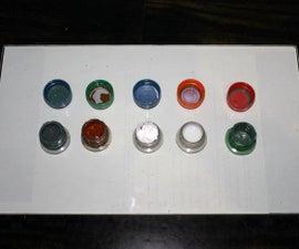 Bottle Cap Palette - Save & Keep Paints Wet