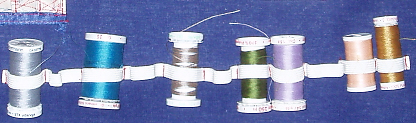 Picture of Create Elastic Loops for Thread Spools.