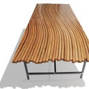 Mesa de café de un barril de vino de roble
