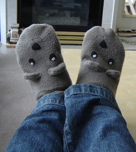 Sew Warm and Comfy Teddy Bear Slippers