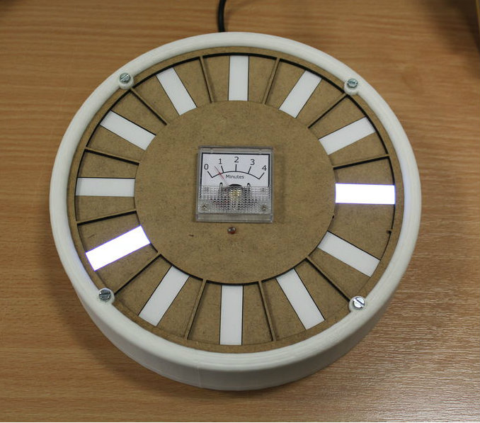 Picture of Arduino LED Backlight Clock With Pulsing Minute Hand