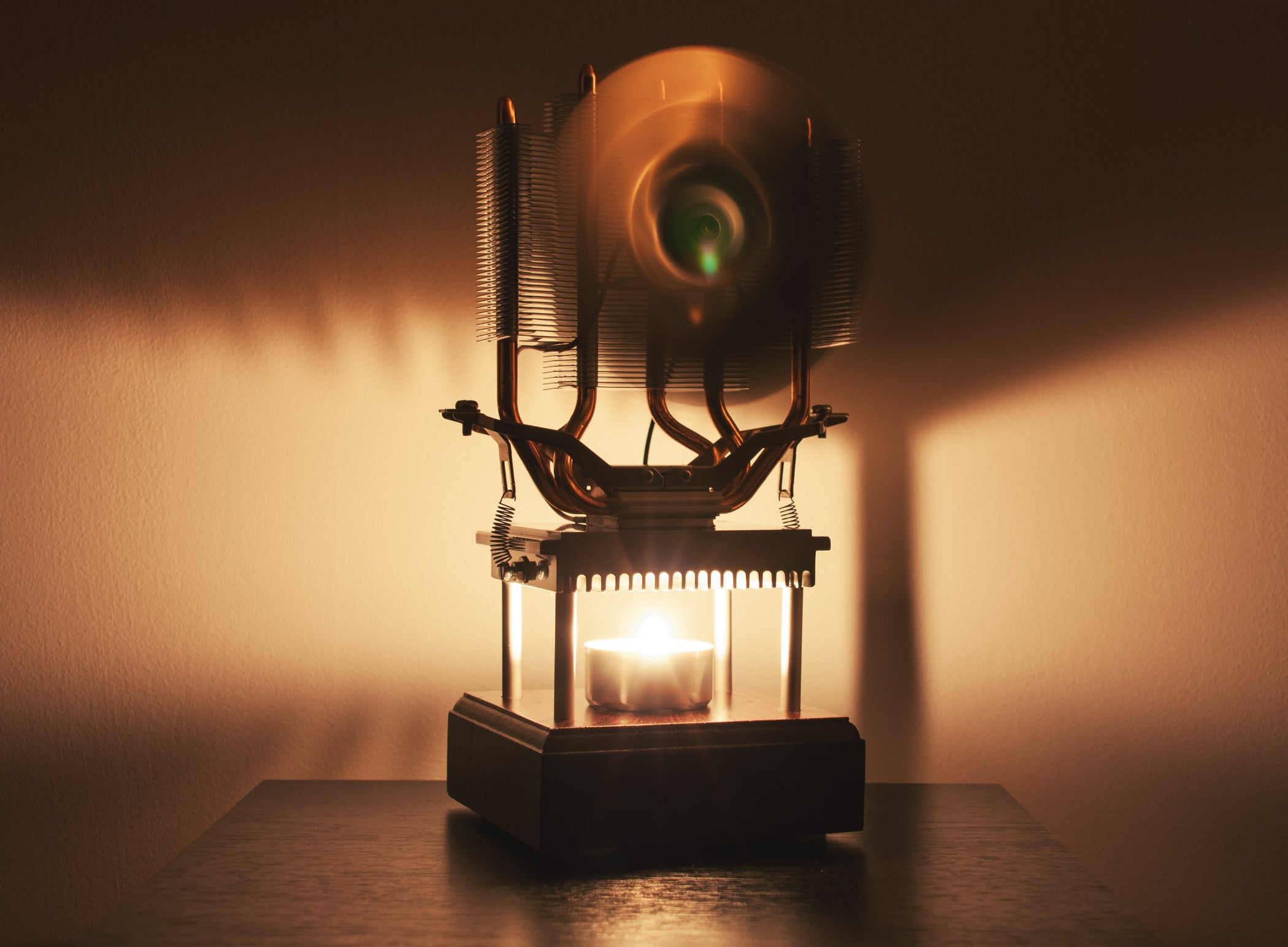 Thermoelectric Fan Powered By A Candle With Pictures Wiring Diagram Of Electric Desk