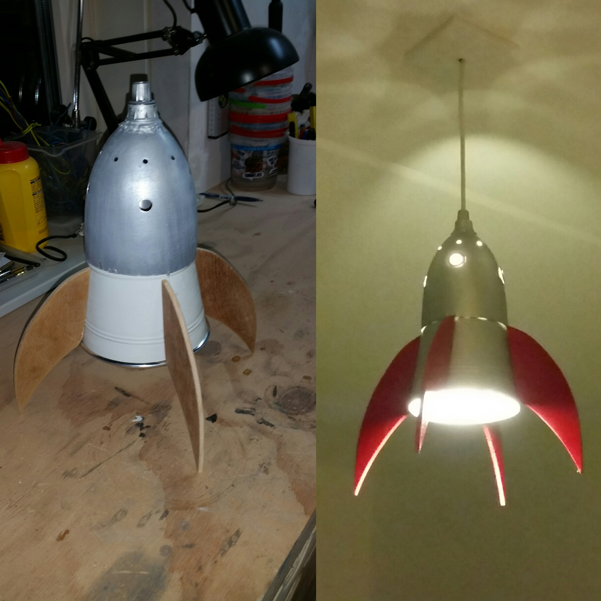 Picture of Rocket Lamp