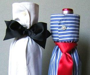 Shirt Bottle Gift Wrap