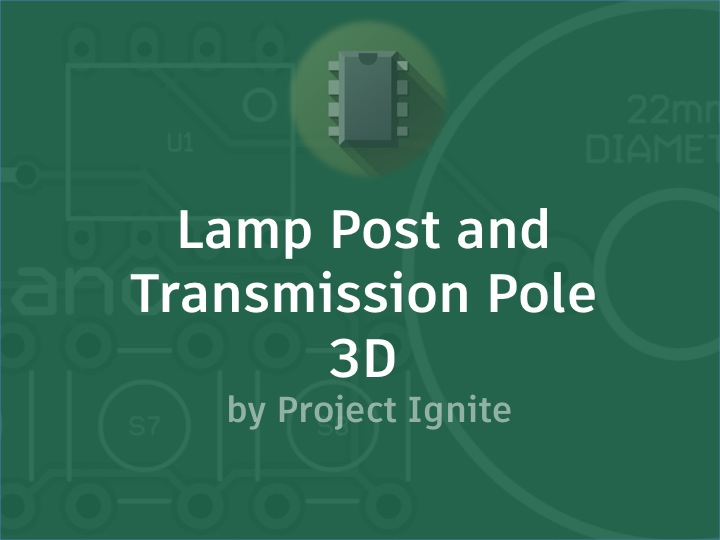 Picture of Lamp Post and Transmission Pole - 3D