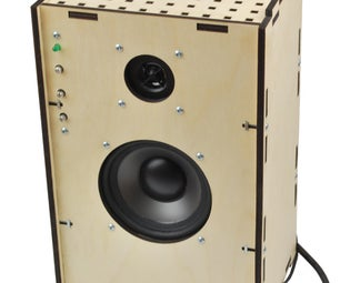 Laser-cut Speaker With Amplifier