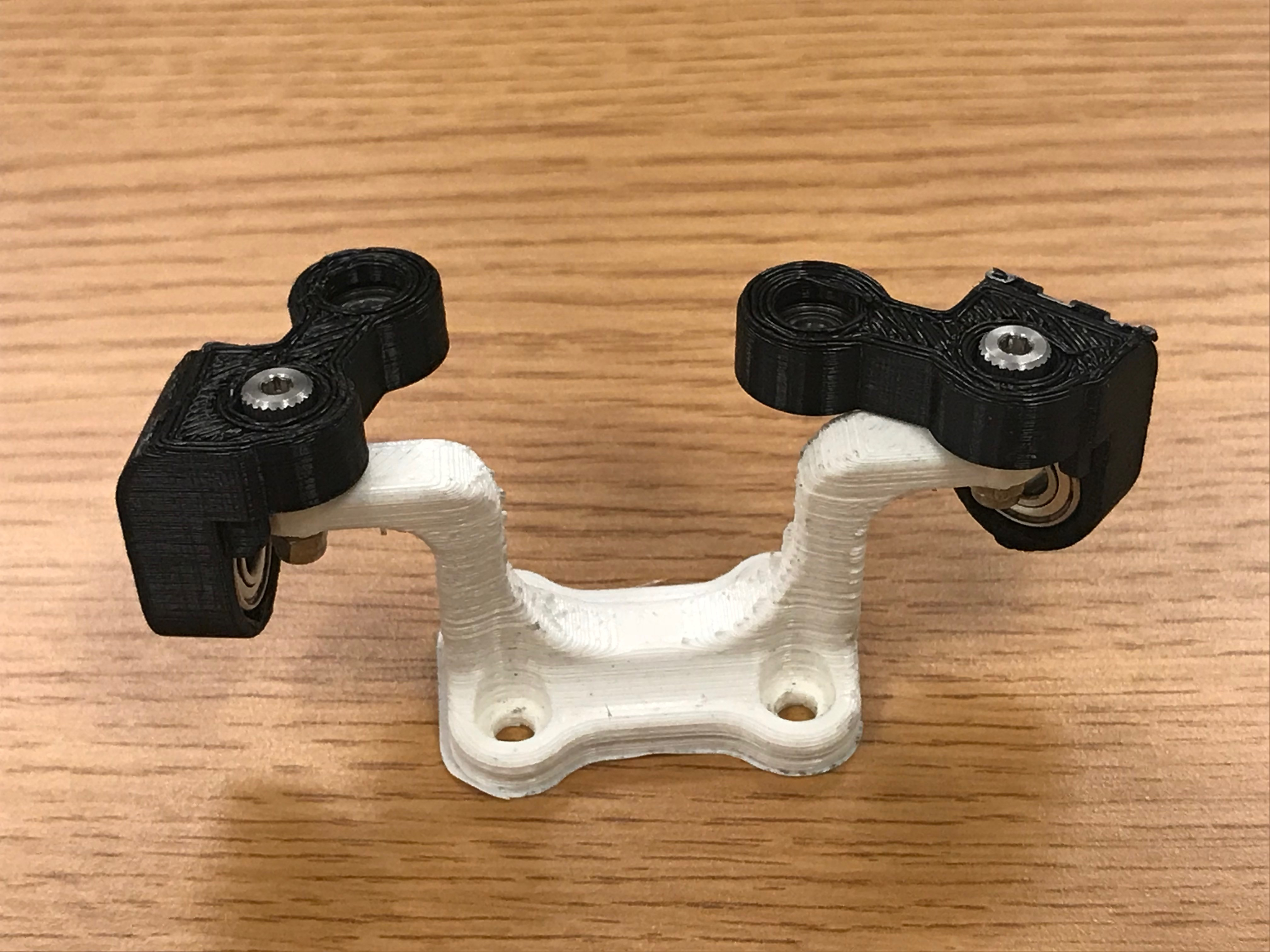 Picture of Connecting 3D Printed Front Wheel Assembly