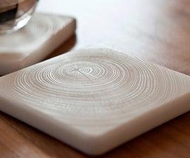 Lasercut Tree Ring Coasters